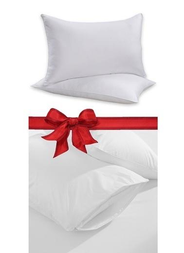 Alla Turca 2li Silikon Yastık + 2li Yastık Alezi Beyaz